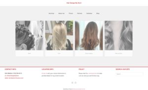 hair design by kerri front page